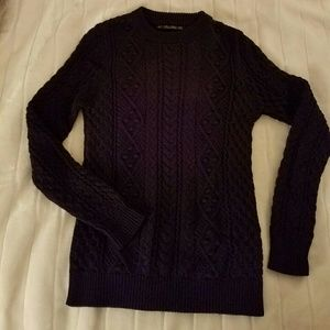 Zara cable knit sweater - Navy blue